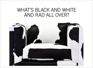What's black and white and rad all over?